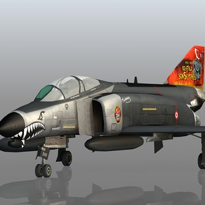 3D turkish f-4e terminator
