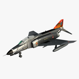3D turkish air force f-4e