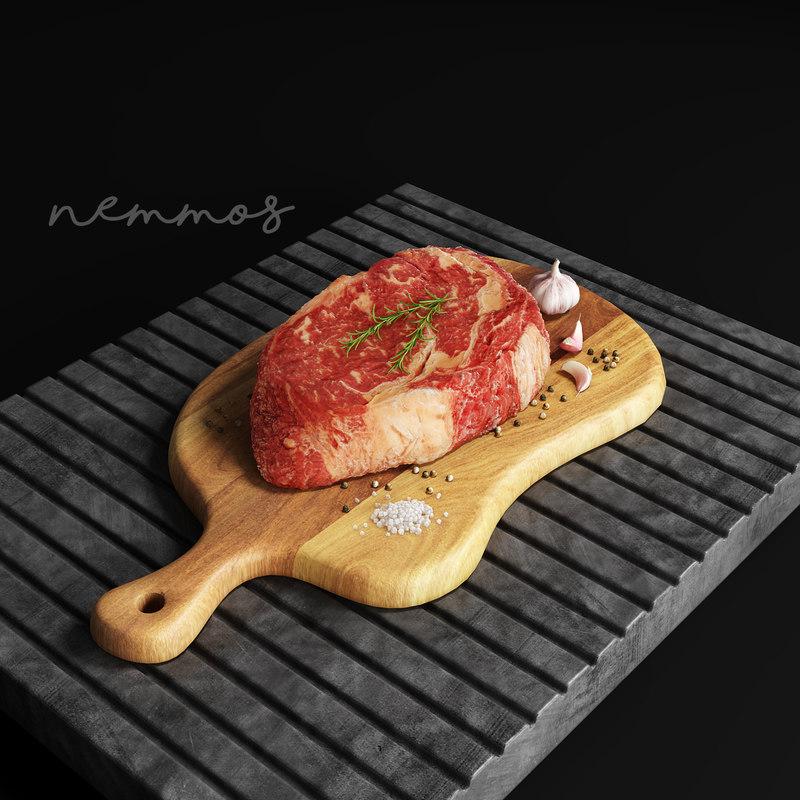 meat steak food 3D model