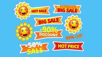 3D cartoon logo summer sun model