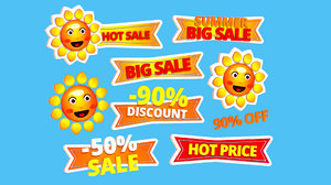 3D cartoon logo summer sun model