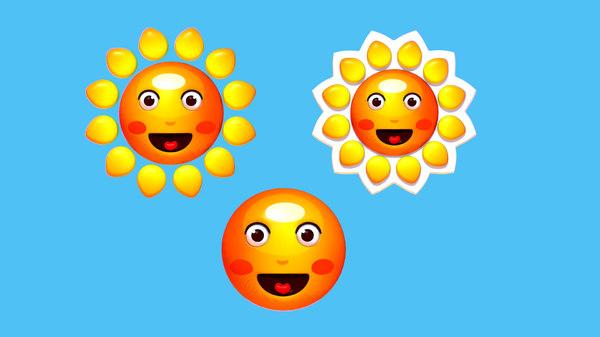 3D subdivision cartoon summer sun