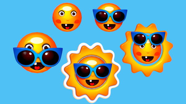 subdivision cartoon summer sun model