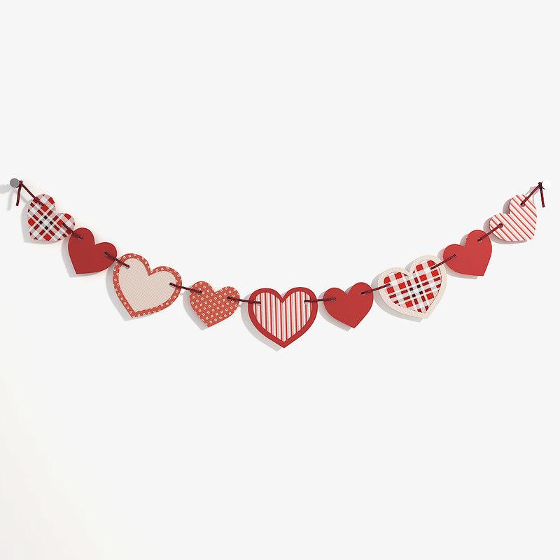 garland heart shape model