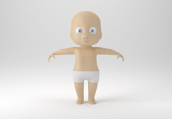 baby character rig model