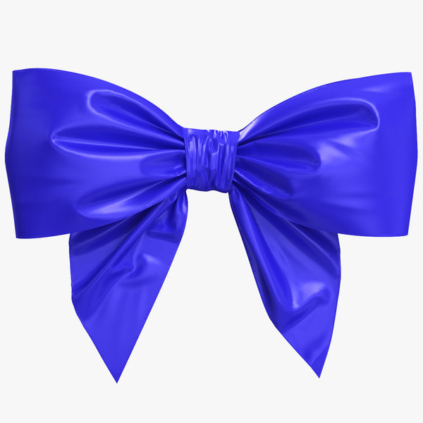 blue bow model