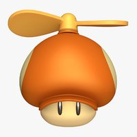 propeller mushroom toad super mario 3D model