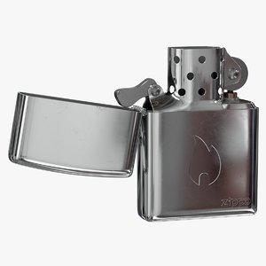 3D realistic zippo lighter classic model