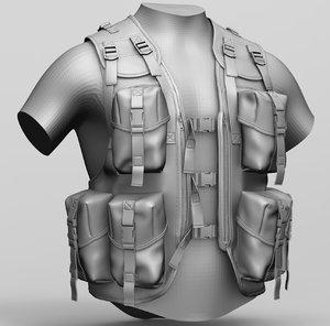 zbrush dpm assault vest 3D model