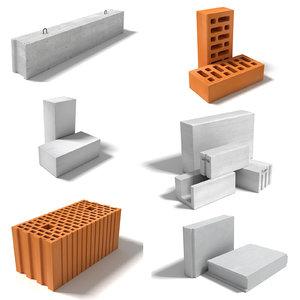 3D model construction blocks