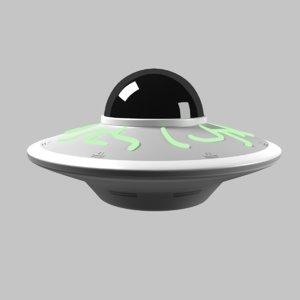 3D model alien spaceship