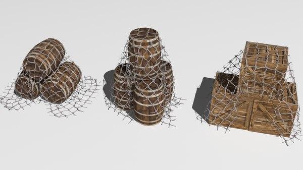 fish net 3D model