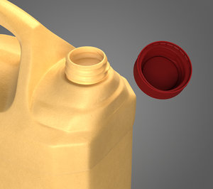 3D plastic canister contains