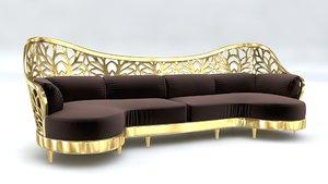 3D model sofa arabic
