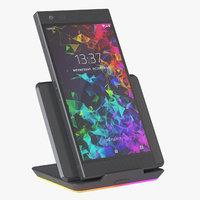 3D photoreal phone razer 2