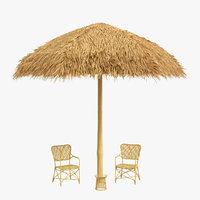 sunshade canopy chairs beach sand model
