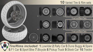 3D tire rim 10
