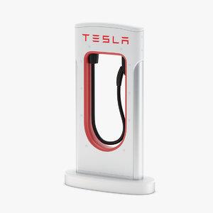 3D tesla charging station model