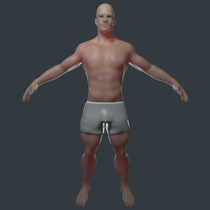 3D realistic male body
