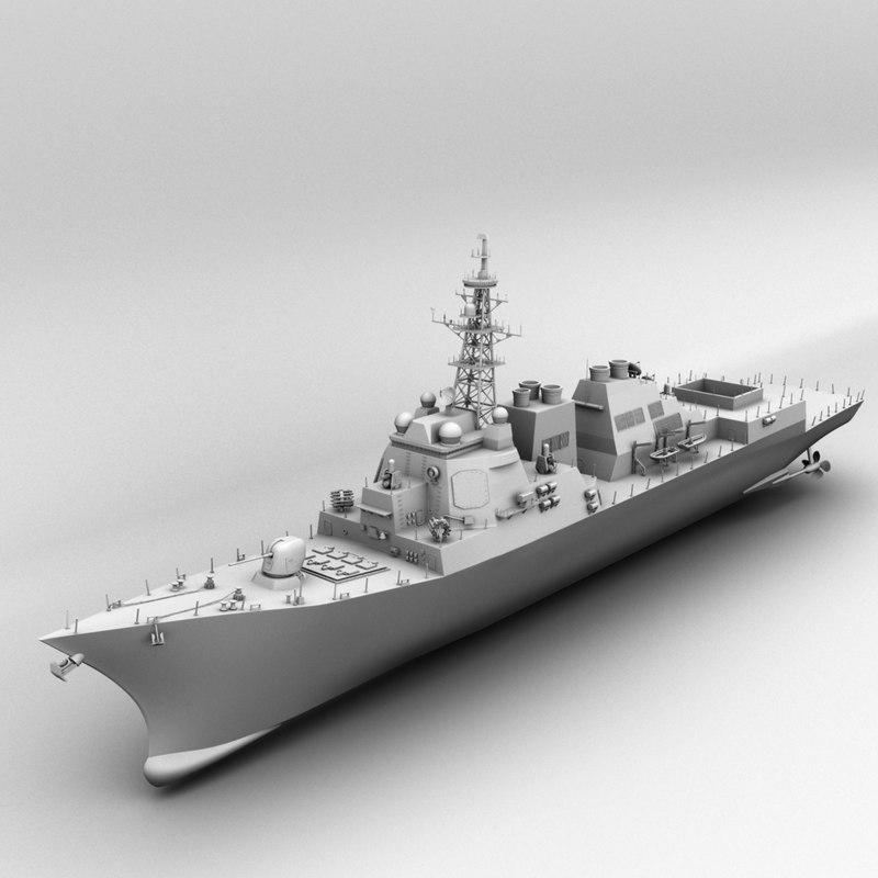 missile destroyer 3D