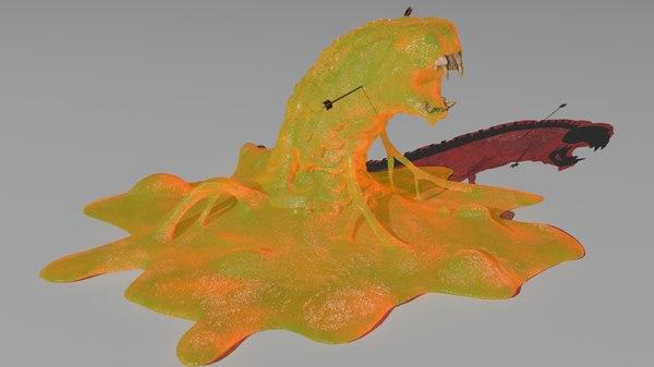 rigged slime skeleton 3D model