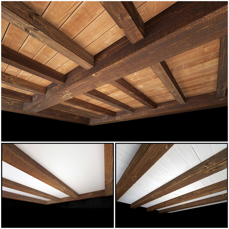 wooden ceiling 3 3D