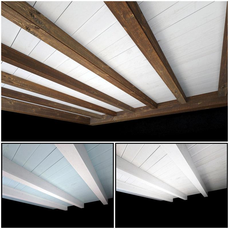 3D wooden ceiling