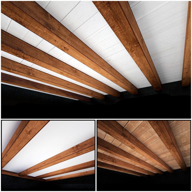 wooden ceiling 3D model