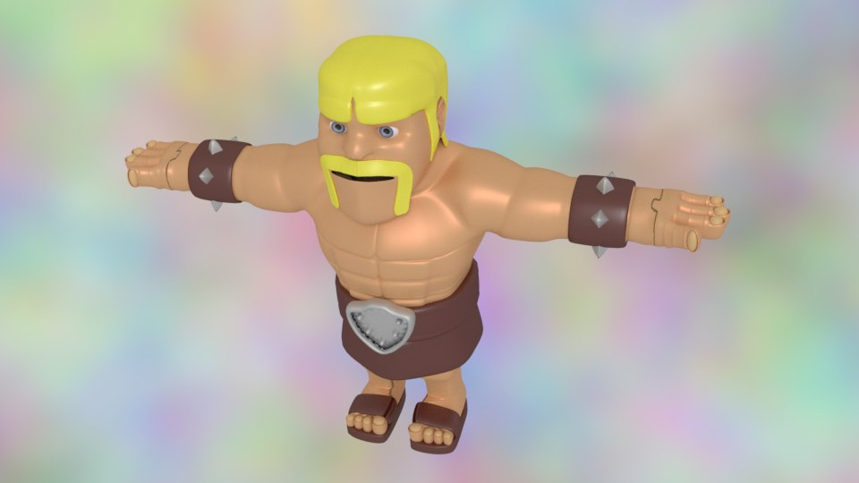 3D model barbarian clash clans