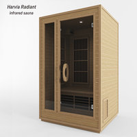 3D infrared sauna red model