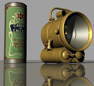 vintage acetylene lamp - 3D model