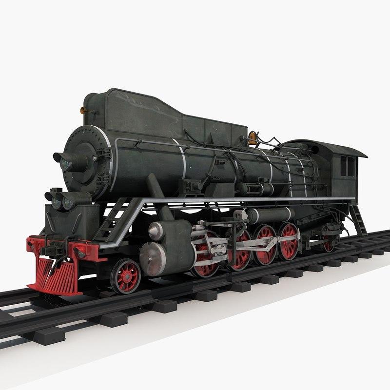 3D steam train model