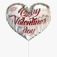 3d balloon heart valentine model