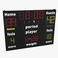 scoreboard sport model