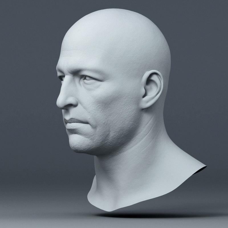 realistic male head model
