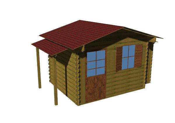 garden chalet 3D model