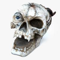 3D demon skull model