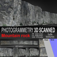 Mountain rock scanned 3D model
