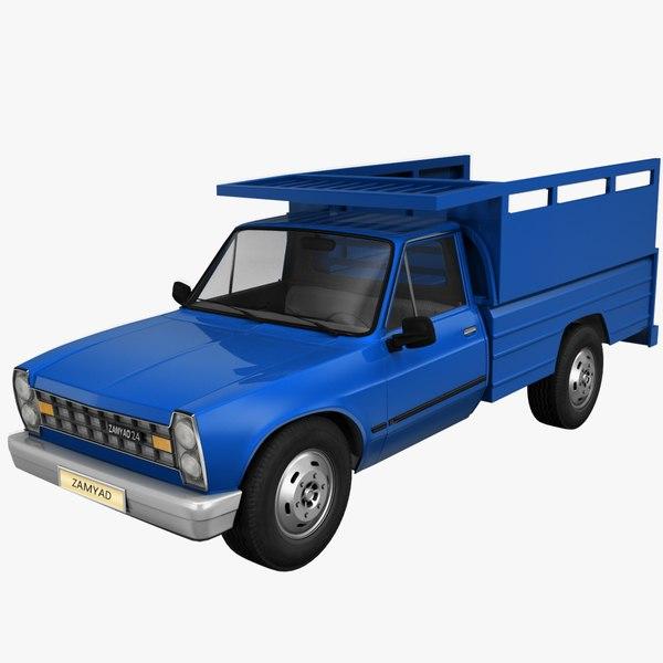 zamyad pickup 3d model