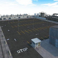 factory parking lot 3D