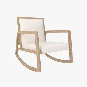 wayfair - hoff rocking chair 3D model