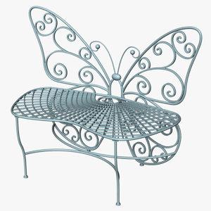 butterfly bench model