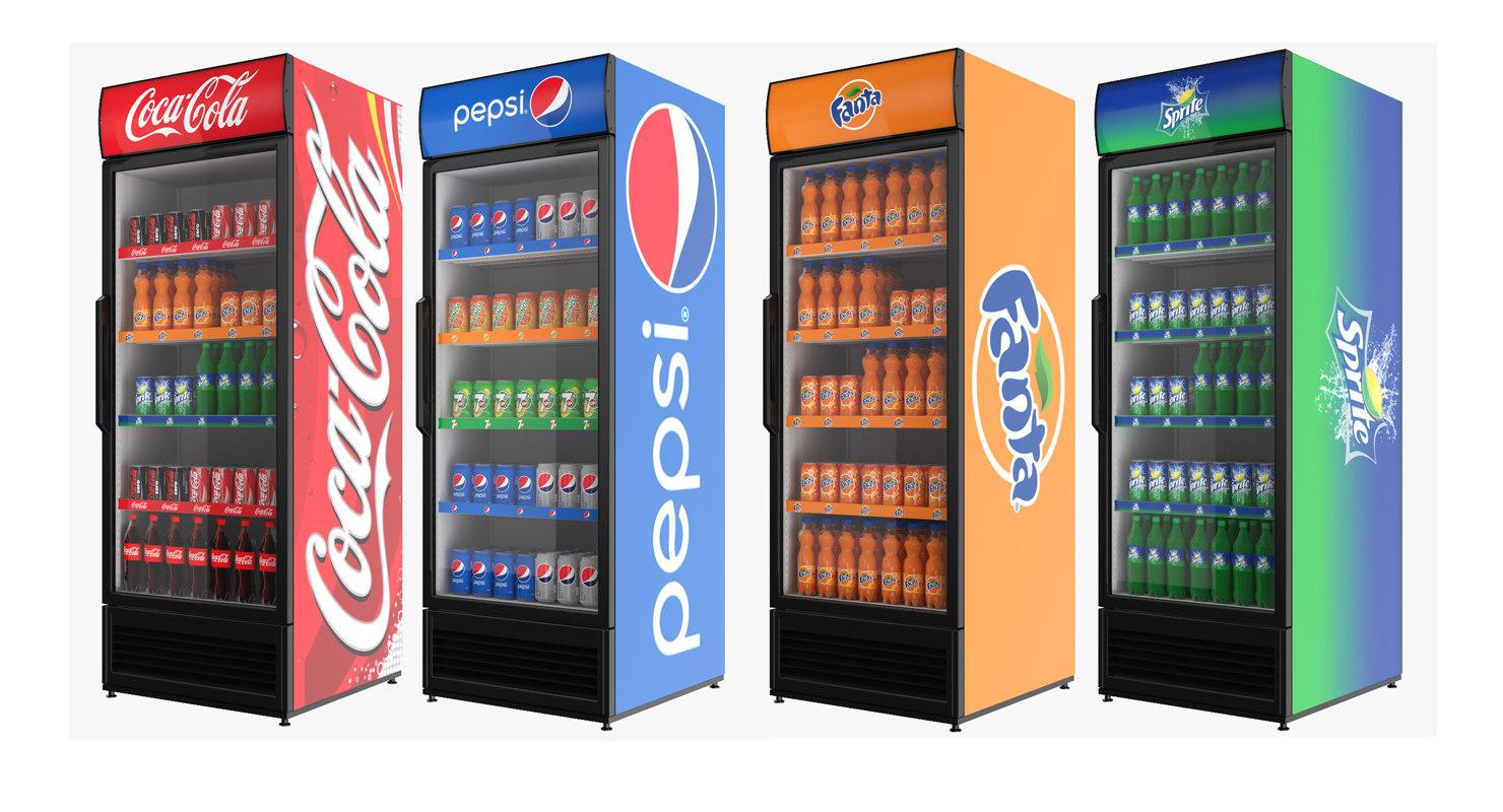 3D display stands refrigerator model