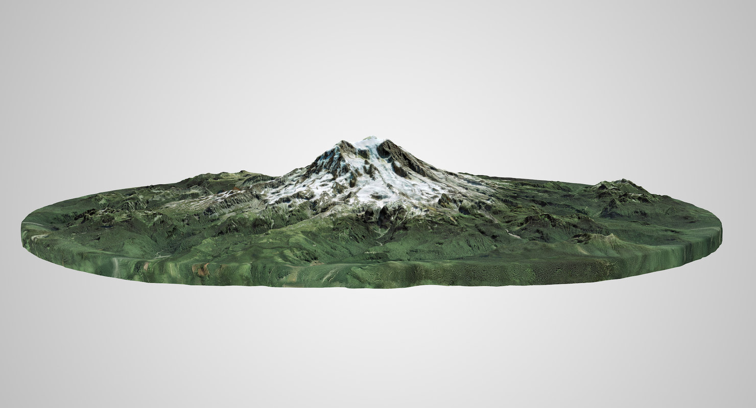 mount rainier 3D model
