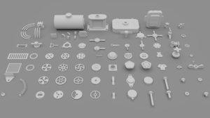 3D hard surface kitbash vol 1 model