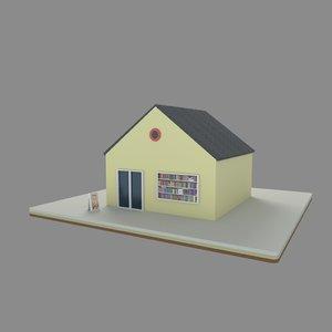 shop book 3D model