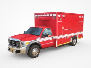 generic ambulance v8 3D model
