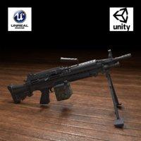 3D m249 weapon model