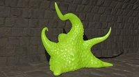3D rigged slime model
