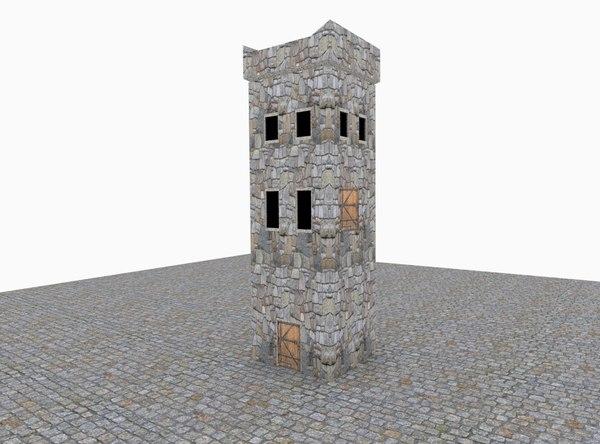 3D medieval tower model